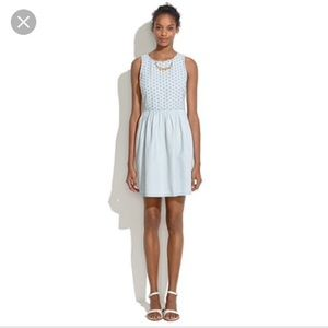 Madewell chambry eyelet dress, S